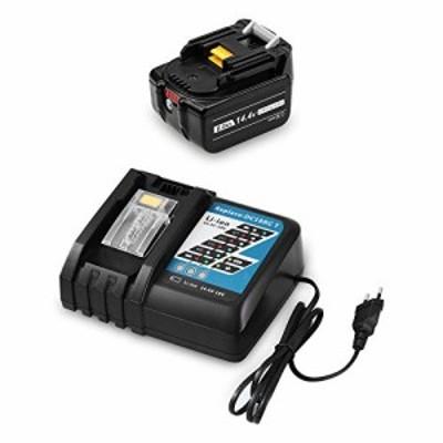 【送料無料】MuniKind 互換 マキタ 14.4V バッテリー BL1460B DC18RC(14.4V-18Vバッテリーに対応充電器)7.0Ah 電動工具用リチウムオン