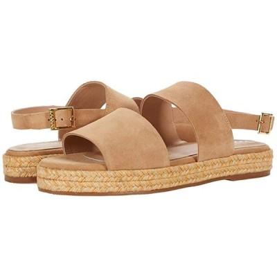 KAANAS Oahu Suede Sandal with Yute-Wrapped Flatform レディース サンダル Almond