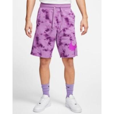 ナイキ メンズ ハーフパンツ・ショーツ ボトムス Nike festival shorts in purple tie dye Purple