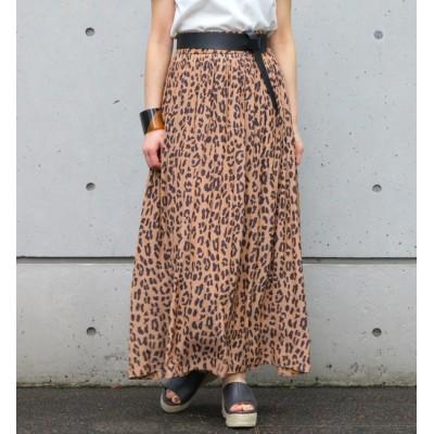 【リエス/Liesse】 レオパードスカート