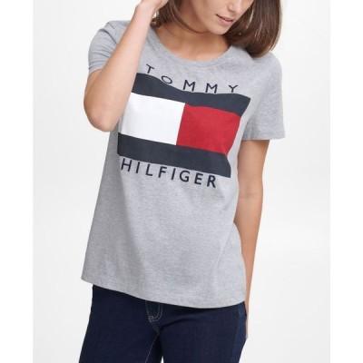 トミー ヒルフィガー レディース シャツ トップス Cotton Logo T-Shirt