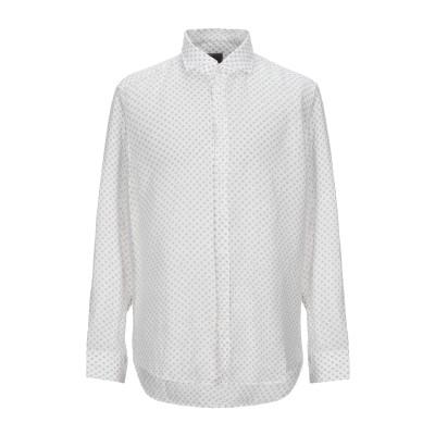 BASTONCINO シャツ ホワイト 43 リネン 100% シャツ