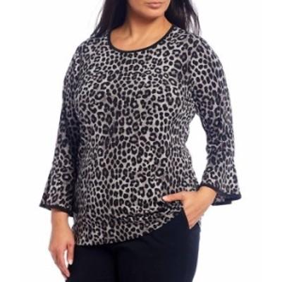 マイケルコース レディース Tシャツ トップス MICHAEL Michael Kors Plus Size Cheetah Print Lux Matte Jersey 3/4 Flare Sleeve Top Gu
