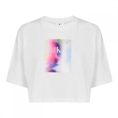 カルバンクライン Calvin Klein Jeans レディース ベアトップ・チューブトップ・クロップド トップス Cropped Pride T Shirt Bright White