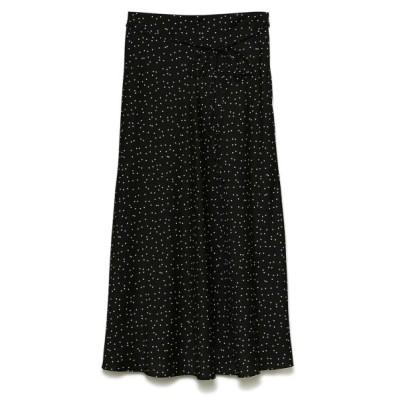 (Mila Owen/ミラオーウェン)サテンスカート/レディース DOT