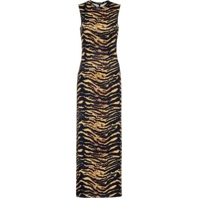 アダム セルマン Adam Selman Sport レディース ワンピース マキシ丈 ワンピース・ドレス Animal-print maxi dress Tiger