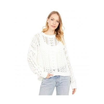Volcom ヴォルコム レディース 女性用 ファッション セーター Wish Net Sweater - Star White