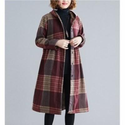 コート レディース キルティングコート 冬 40代 アウター 裏起毛 チェスターコート ロング ジャケット 裏ボア フード 暖かい 体型カバー