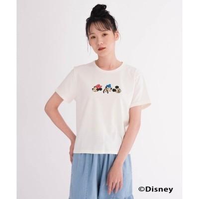 tシャツ Tシャツ DISNEY S/S Tシャツ MARSHMALLOW W/ RIBTRIM