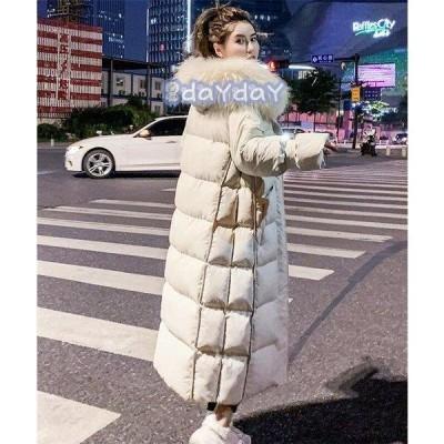 中綿ジャケット レディース ロング フード付き 中綿コート ファー 着痩せ ダウンジャケット アウター 冬 防寒 ダウンコート 2021 20代 30代 40代