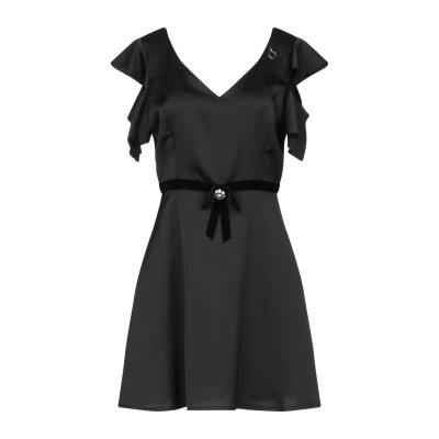 MANGANO ミニワンピース&ドレス ブラック L ポリエステル 100% ミニワンピース&ドレス