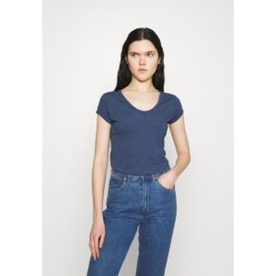 ジースター レディース Tシャツ トップス CORE EYBEN SLIM - Basic T-shirt - worn in kobalt worn in kobalt