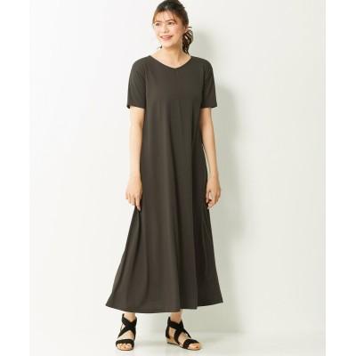 大きいサイズ 1枚で決まる!半袖ゆるシルエットカットソーマキシ丈ワンピース ,スマイルランド, ワンピース, plus size dress
