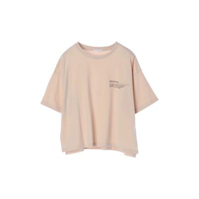 ショート丈ワンポイントプリントTシャツ