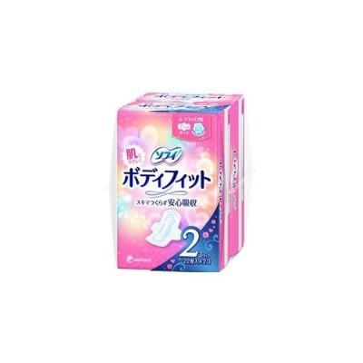 ユニチャーム ソフィ ボディフィット 羽つき ふつうの日 22枚×2個パック