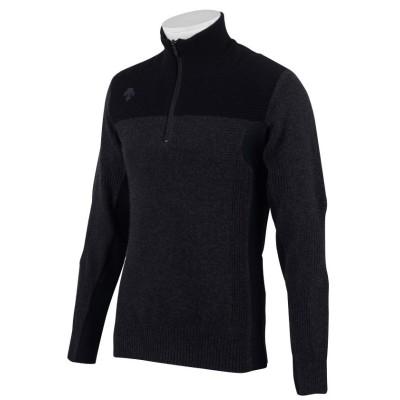 【デサントゴルフ】 カシミヤ×ヒートナビセーター メンズ ブラック系 O DESCENTE GOLF