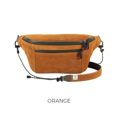 【カバンのセレクション】 アッソブ ウエストバッグ ファニーパック メンズ レディース ブランド スエード AS2OV WATER PROOF SUEDE 091752 ユニセックス オレンジ フリー Bag&Luggage SELECTION