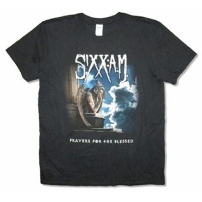 ファッション トップス Sixx AM- Prayers For The Blessed-Black T-shirt