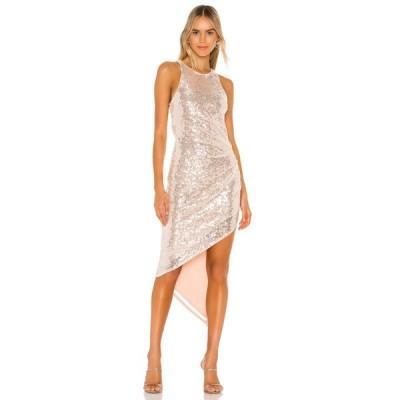 ラヴァーズフレンズ Lovers + Friends レディース パーティードレス ワンピース・ドレス Rosalee Sequin Gown Sheer Pink