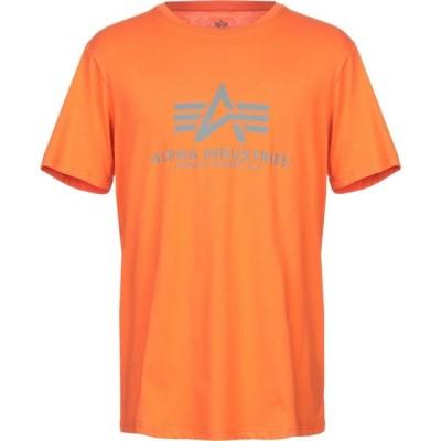 アルファ インダストリーズ ALPHA INDUSTRIES メンズ Tシャツ トップス t-shirt Orange
