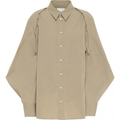 ボッテガ ヴェネタ Bottega Veneta レディース ブラウス・シャツ トップス Cotton-Blend Shirt Sand
