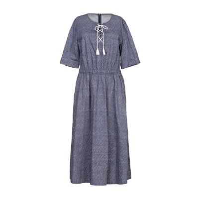 ロベルト コリーナ ROBERTO COLLINA 7分丈ワンピース・ドレス ブルー L コットン 100% 7分丈ワンピース・ドレス