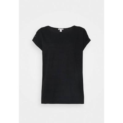 エスプリ Tシャツ レディース トップス TEE - Basic T-shirt - black