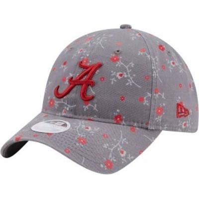 ニューエラ レディース 帽子 アクセサリー New Era Women's Alabama Crimson Tide Grey Blossom Adjustable Hat