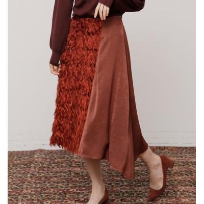 【ソフィット/Soffitto】 フリンジアシンメトリースカート