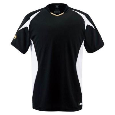 デサント(DESCENTE)ベースボールシャツ(ds-db116-bksw)