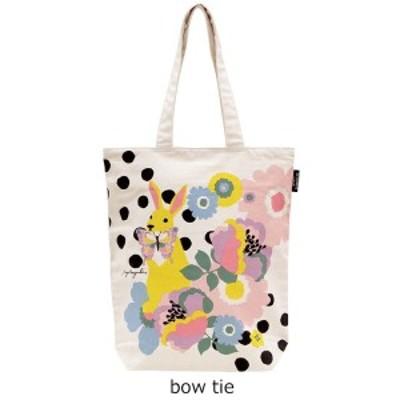 オーガニックコットンバッグ 「bow tie」 A4 トートバッグ [デザイナーズジャパン]