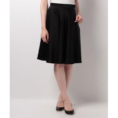 【ピッコラドンナ】 ソアパールサテンスカート   レディース ブラック 1号(7号) Piccola Donna