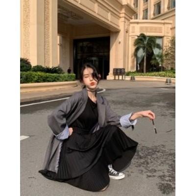 ミモレ丈 アシンメトリースカート シフォンロングスカート プリーツスカート フレアスカート レディース 韓国 オルチャン ファッション