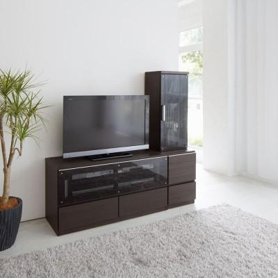 ソファや椅子からも見やすい高さ60cmの テレビ台 幅120cm ホワイト