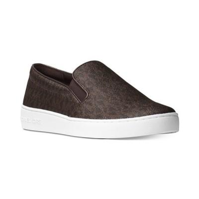 マイケルコース スニーカー シューズ レディース Keaton Slip-On Signature Logo Sneakers Brown Logo