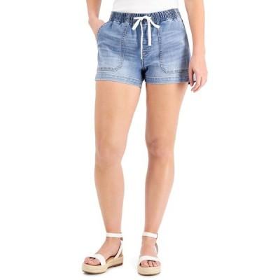 アイエヌシーインターナショナルコンセプト カジュアルパンツ ボトムス レディース INC Drawstring-Waist Denim Shorts, Created for Macy's Light Indigo