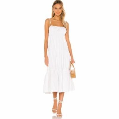 ラヴァーズフレンズ Lovers + Friends レディース ワンピース ミドル丈 ワンピース・ドレス Mintz Midi Dress White