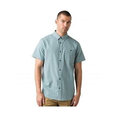 Prana プラナ メンズ 男性用 ファッション ボタンシャツ Jaffra Short Sleeve Shirt - Breeze