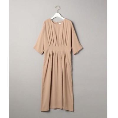 ドレス BY DRESS ジョーゼットウエストタックドルマンスリーブドレス
