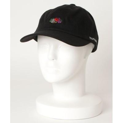 MASSIVE STORE / 【FRUIT OF THE LOOM/フルーツオブザルーム】LINEN LOGO EMB LOW CAP/刺繍ロゴローキャップ MEN 帽子 > キャップ
