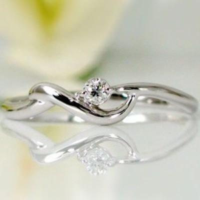 ダイヤモンド ホワイトゴールドk18 指輪 K18wg ダイヤ 0.05ct