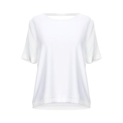 マニラ グレース MANILA GRACE T シャツ ホワイト 2 レーヨン 92% / ポリウレタン 8% / シルク T シャツ