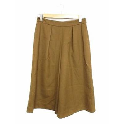 【中古】アナイ ANAYI パンツ ガウチョ スカーチョ タック 38 茶色 ブラウン /AAM22 レディース
