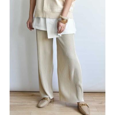 アルゴトウキョウ ARGO TOKYO Accordion pleats pants 22007 (グレージュ)