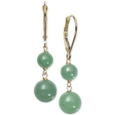 メイシーズ Macy's レディース イヤリング・ピアス ジュエリー・アクセサリー Dyed Jade (6 & 8mm) Beaded Drop Earrings in 14k Gold Gold