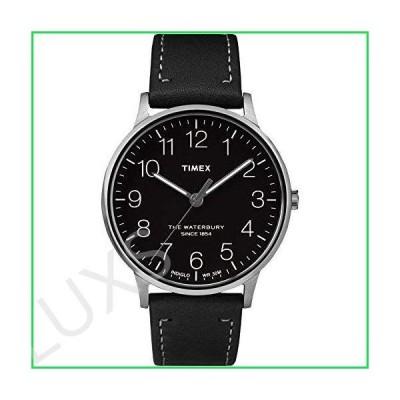 Timex Waterbury Classic Black Dial Stainless Steel Men's Watch TW2R25500 並行輸入品