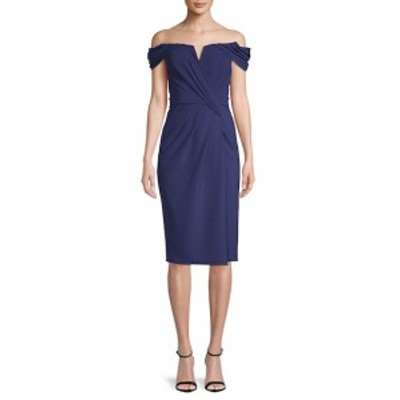 レネルイズ レディース ワンピース Off-The-Shoulder Crepe Dress