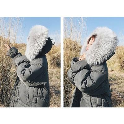 ダウンコート 秋冬 レディース ダウン レディース アウター 防寒 厚手 暖かい ロング丈 中綿  大きいサイズ  ダウンジャケット レディース