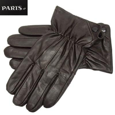 手袋 PARIS16e 羊革/シープスキン チョコ茶 メンズ グローブ メール便可 LAM-N08-BR