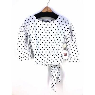 ザラ ウーマン ZARA WOMAN クルーネックTシャツ サイズS レディース 【中古】【ブランド古着バズストア】